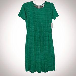 NEW! Plus Size: LuLaRoe Green Amelia Midi Dress with Pockets Size 2XL